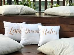 Throw Pillow Cover Designs Love Dream Relax White
