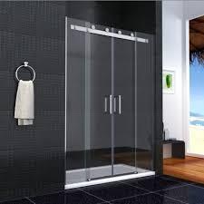 distinctive double glass door shower enclosure walk in sliding double door glass cubicle side
