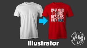 How To Make A Tshirt Design Using Illustrator Mock Up T Shirt Designs In Adobe Illustrator