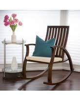 wooden rocking chair with cushion. Unique Rocking Abraham Brown Mahogany Wood Rocking Chair W Cushion By Christopher Knight  Home Abraham Intended Wooden With W