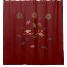 burgundy shower curtain sets. flower fall floral dark red burgundy shower curtain sets