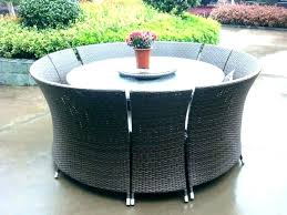 circular outdoor furniture round metal patio table dining fire pit with large cushions o