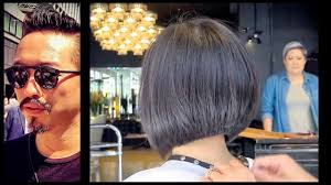 Kenneth Siu Haircut 27 - Graduation Bob - YouTube