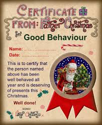 santa certificates rooftop post printables santa certificate for good behaviour