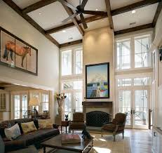 rustic living room by wayne windham architect p a