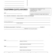 Quick Deed Form Inspiration Free California Quit Claim Deed Form Pdf Word Eforms Free In