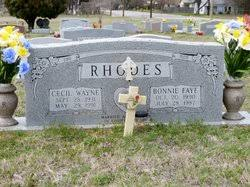 Bonnie Faye Robison Rhodes (1930-1987) - Find A Grave Memorial