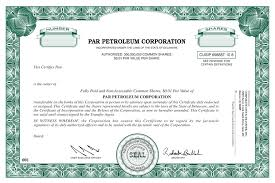 Form Of Share Certificate Form Of The Companys Common Stock Certificate