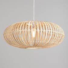 round natural bamboo rattan pendant lamp