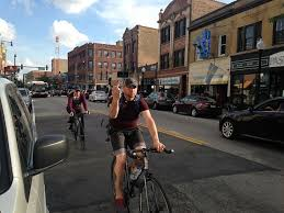 Image result for Cyclist runs red light hit by car Chicago