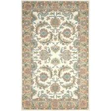 hand tufted wool ivory red brown area rug and birch lane heritage