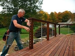 cable deck railing diy ultimate build railings fine with inspirations wire e15