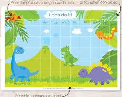 Dinosaur Reward Chart And Stickers Dinosaur Reward Chart Toddler Reward Chart Reward Chart