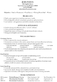 server resume skills ingyenoltoztetosjatekokcom resume objectives for servers