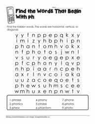 Progressive phonics allinone reading program with free phonics books and free alphabet books. Ph Digraph Activities Worksheets