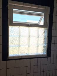 Glass For Bathroom Black And White Bathroom Remodel Glass Block With Awning Window