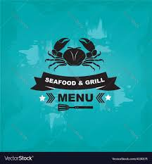 Seafood cafe menu grill template design ...