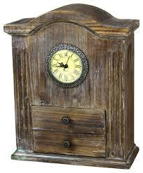 vintage wooden handcrafted desk clock farmhouse desk and mantel clocks