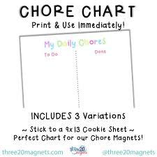 Kids Daily Chore Chart Chore Chart Printable Chore Chart Kids Daily Chores Child Reward Chart Digital Download
