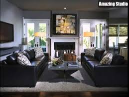 black leather sofa living room. Contemporary Living Living Room Decorating Ideas Black Leather Couch Throughout Sofa U