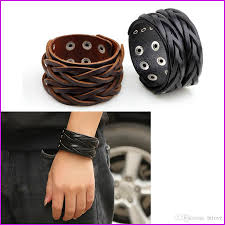 2019 american biker punk 4cm wide leather bracelet double buckle mens womens cool retro cuff bangle wristband black brown from htlove 3 06 dhgate com