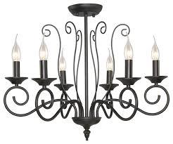 traditional 6 light chandelier black iron industrial chandelier lighting