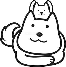 親子 かわいい白黒の犬イラスト無料82866 素材good