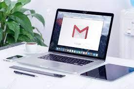 Varna, Bulgaria - May 29, 2015: Google Gmail Logo On The Apple MacBook Pro  Display That Is