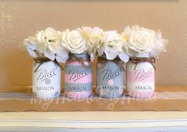 Decorating Mason Jars For Baby Shower Baby Shower Decorations Pink and Gray Centerpieces Mason Jar 29