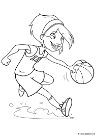 Basketbal Kleurplaten Kleurplateneu