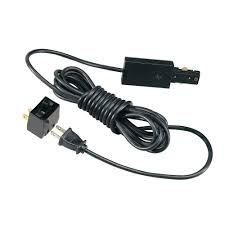 hampton bay linear track lighting live end power feed with 15 ft cord and