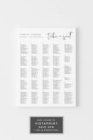 Adella Modern Minimalist Wedding Portrait Alphabetical Seating Chart Template