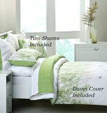 green leaf bedding set urban garden green leaf cotton duvet cover set painterly green fern leaf