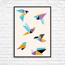 origami crane printable wall art