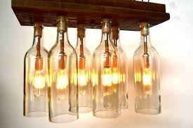 rustic aranya barn wood and wine bottle chandelier