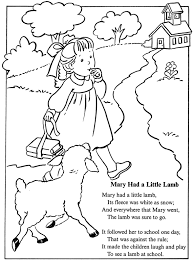 Small Picture mary had a little lamb nursery rhyme coloring sheet inkspired