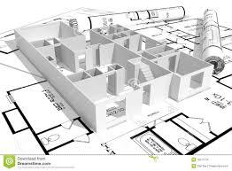 modern home architecture blueprints. Brilliant Blueprints 3d Modern House And Blueprints Isolated On White Build Model To Modern Home Architecture Blueprints