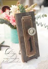 Antique door knob Hasrynews Wedding Chicks Diy Antique Doorknob Table Numbers