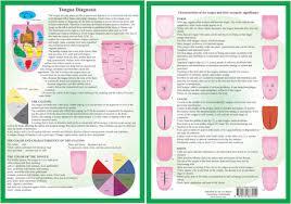 Ayurveda Tongue Chart Tongue Diagnosis A4 Chart