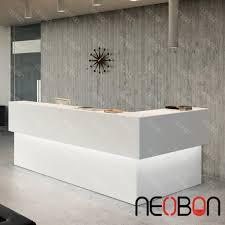 modern beauty salon reception desks curved counter design intended for desk decor 15