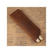 3colors 1pc antique handmade leather fountain pen bag pencil case