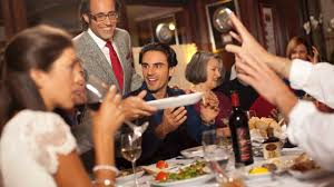 photo of family dinner at las vegas italian restaurant inside rao s las vegas