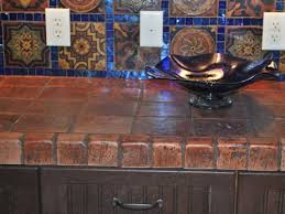 stone tile kitchen countertops. Image Of: Brick Tiles Countertop Stone Tile Kitchen Countertops