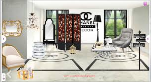 chanel decor. stardoll released the 3 floors of chanel decor tribute yesterday: