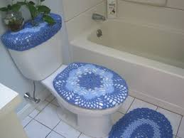 Crochet Shell Toilet Seat Cover