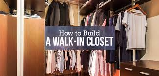 easy diy how to build a walk in closet