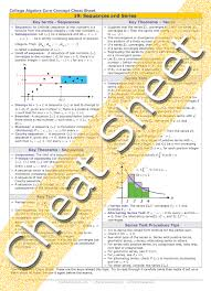 series 7 cheat sheet college algebra sequences and series