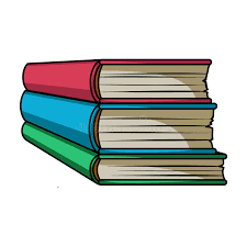 stack of books icon in cartoon style isolated on white background books symbol