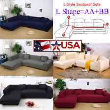 sectional covers. 8 colors sofa covers l shape 2pcs fabric stretch slipcovers for sectional corner s