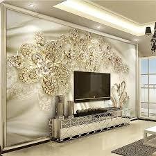 Beibehang Custom Wallpaper 3d Muurschilderingen Gouden Sieraden
